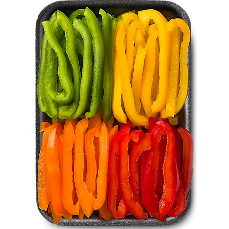 Fresh Cut Sliced Bell Peppers - 8 Oz