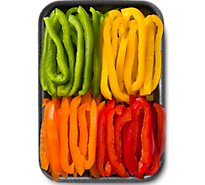 Fresh Cut Bell Peppers Sliced - 8 Oz