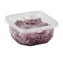 Fresh Cut Onions Red Diced Cup - 6 Oz