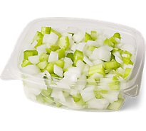 Fresh Cut Celery & Onion Diced Cup - 6 Oz