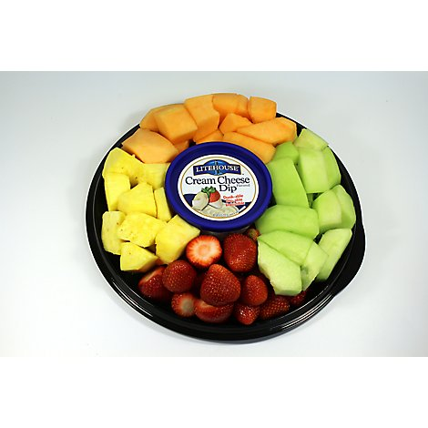 Fresh Cut Fruit Tray With Cream Cheese Dip Medium - 60 Oz