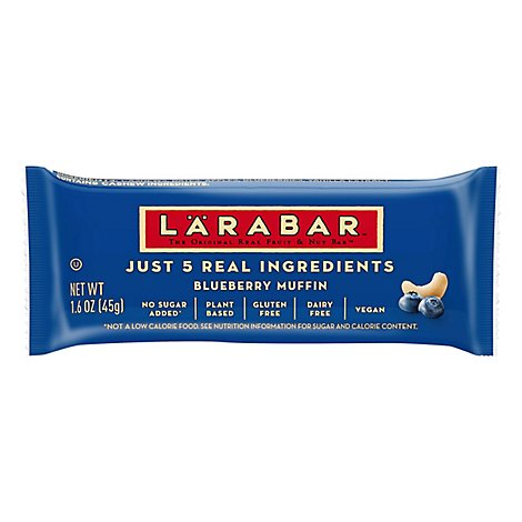 Larabar Food Bar Fruit & Nut Blueberry Muffin - 1.6 Oz