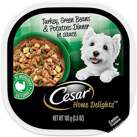 Cesar Home Delights Canine Cuisine Turkey Green Beans & Potatoes Dinner Tub - 3.5 Oz