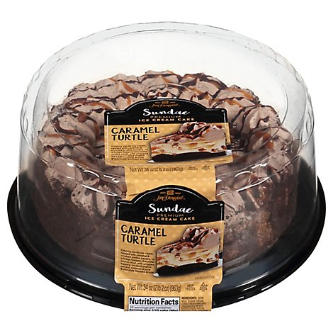 Cake Ice Cream Caramel Turtle - 36 Oz