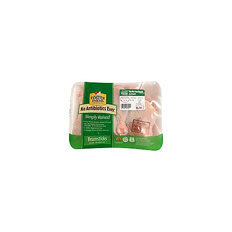 Foster Farms Simply Raised Chicken Drumsticks No Antibiotics Ever - 2.50 LB