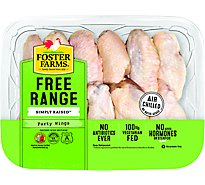 Foster Farms Simply Raised Chicken Wings Party Wings No Antibiotics Ever - 1.25 LB