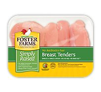 Foster Farms Simply Raised Chicken Breast Tenders No Antibiotic Ever - 1.25 LB