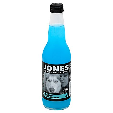 Jones Soda Cane Sugar Berry Lemonade Flavor - 12 Fl. Oz.