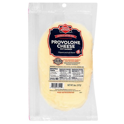 Dietz & Watson Cheese Sliced Smoked Provolone - 8 Oz