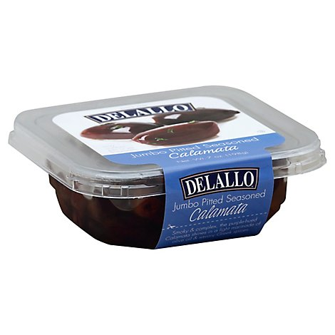 DeLallo Olives Calamata Jumbo Pitted Seasoned - 7 Oz