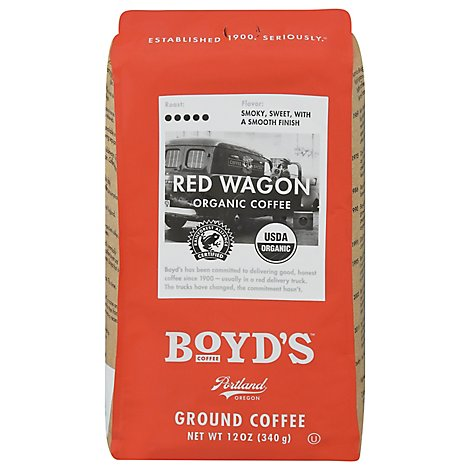 Boyds Coffee Organic Ground Red Wagon - 12 Oz