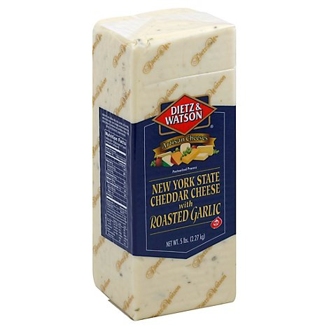 Dietz & Watson Cheese Roasted Garlic Cheddar - 0.50 LB