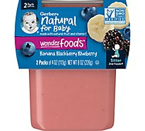 Gerber 2nd Foods Baby Food Banana Mixed Berries - 2-4 Oz