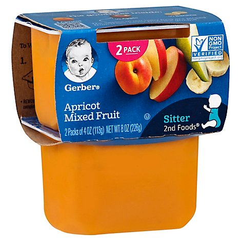 Gerber 2nd Foods Baby Food Apricot With Mixed Fruit - 2-4 Oz