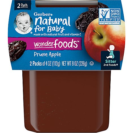 Gerber 2nd Foods Baby Food Prunes With Apples - 2-4 Oz