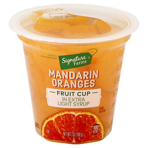 Signature Farms Mandarin Oranges in Extra Light Syrup - 7 Oz