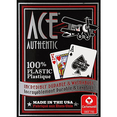 ACE 100% Plastic Playing Cards - Each