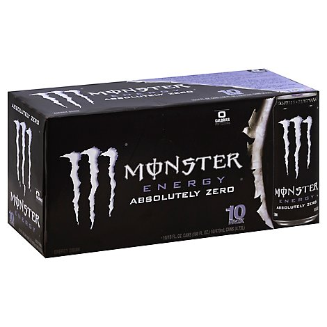 Monster Energy Drink Absolutely Zero - 10-16 Fl. Oz.