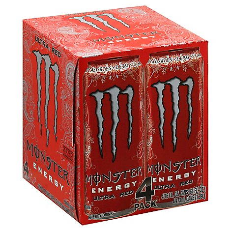 Monster Energy Drink Ultra Red - 4-16 Fl. Oz.