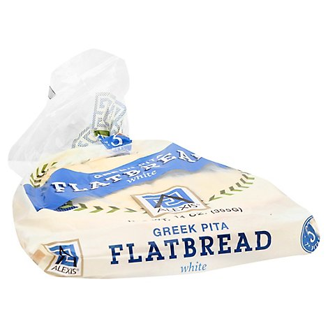 Alexis Greek White Pita Flatbread - 14 Oz