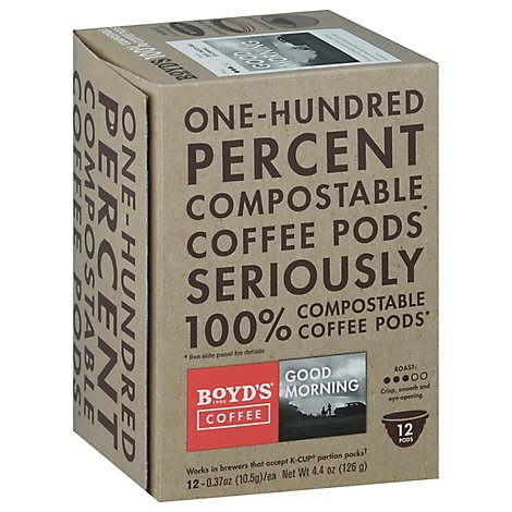 Boyds Coffee Coffee Pods Good Morning - 12-0.37 Oz