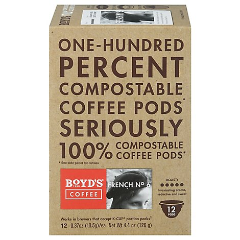 Boyds Coffee Coffee Pods French No. 6 - 12-0.37 Oz