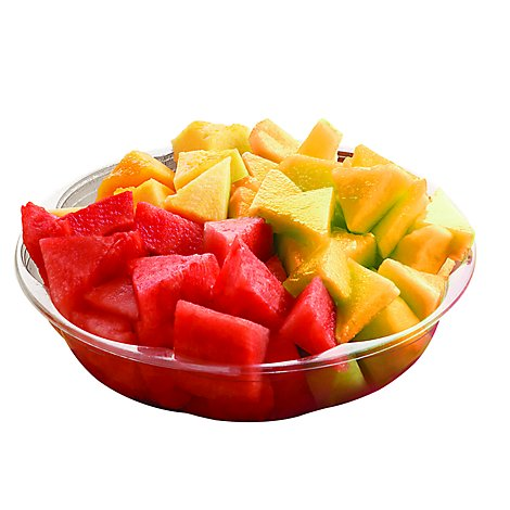 Fresh Cut Melon Watermelon Yellow & Red Bowl - 32 Oz