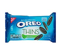OREO Cookies Sandwich Chocolate Thins Mint Creme - 10.1 Oz
