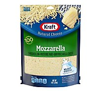 Kraft Natural Cheese Shredded Low-Moisture Mozzarella Part-Skim - 8 Oz