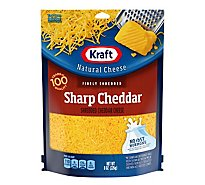 Kraft Cheese Natural Finely Shredded Sharp Cheddar - 8 Oz