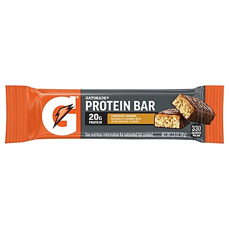 Gatorade Protein Bar Whey Chocolate Caramel - 2.8 Oz