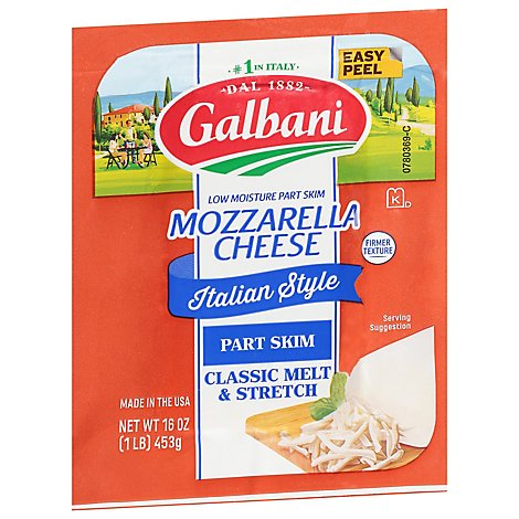 Galbani Part Skim Mozzarella Cheese - 16 Oz