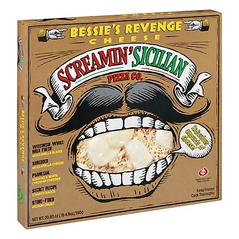 Screamin Sicilian Pizza Bessies Revenge Cheese Frozen - 20.80 Oz