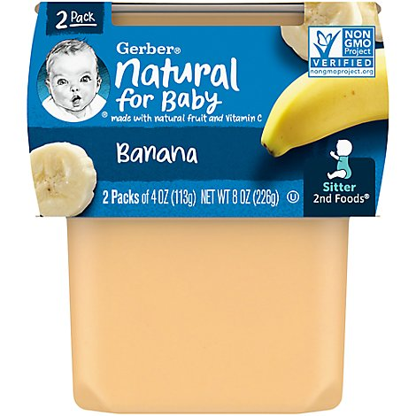 Gerber 2nd Foods Baby Food Bananas - 2-4 Oz