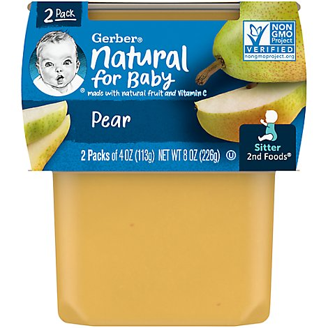Gerber 2nd Foods Baby Food Pears - 2-4 Oz
