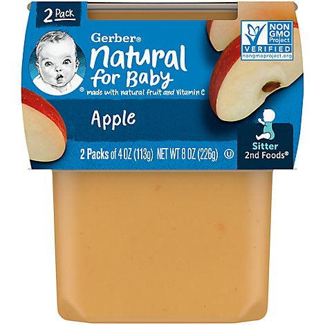Gerber 2nd Foods Baby Food Apples - 2-4 Oz