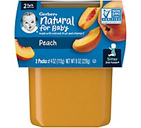 Gerber 2nd Foods Baby Food Peaches - 2-3 Oz