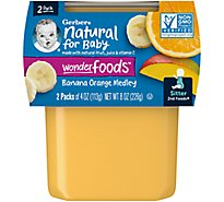 Gerber 2nd Foods Baby Food Sitter Banana Orange Medley Count - 2-4 Oz