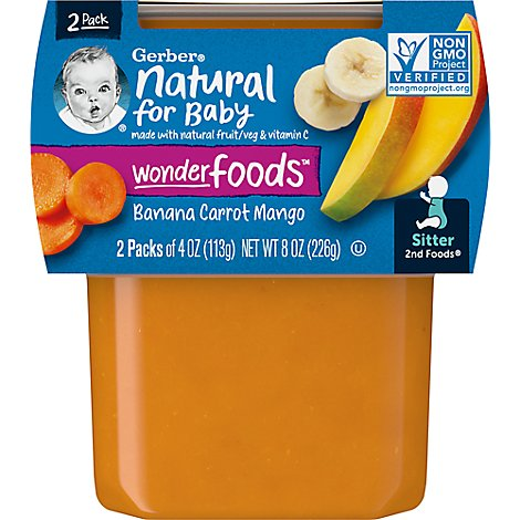 Gerber 2nd Foods Banana Carrot Mango - 2-4 Oz