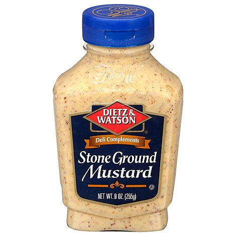 Dietz & Watson Deli Complements Mustard Stone Ground - 9 Oz
