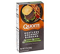 Quorn Meatless Burgers Gourmet Non GMO Soy Free 4 Count - 11.3 Oz