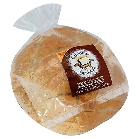 California Goldminer Bakery Bread Sourdough Boule Cracked Wheat - Each