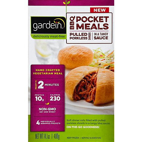 Gardein Meat-Free Meals BBQ Pocket Meals Pulled Porkless Shreds - 14.1 Oz