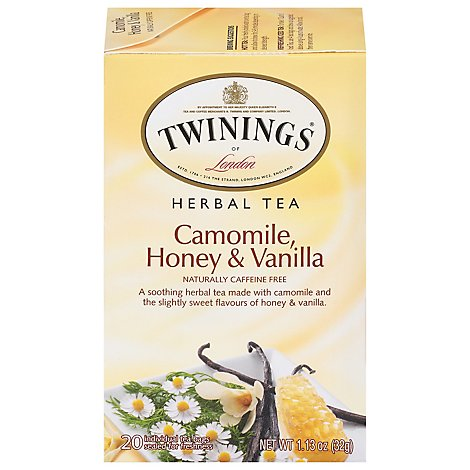 Twinings of London Herbal Tea Caffeine Free Camomile Honey & Vanilla - 20 Count