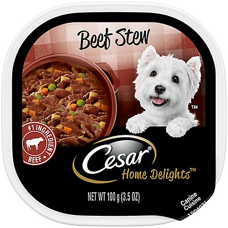 Cesar Home Delights Canine Cuisine Beef Stew Tub - 3.5 Oz