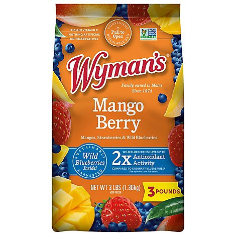 Wymans Mango Berry With Wild Blues - 3 Lb