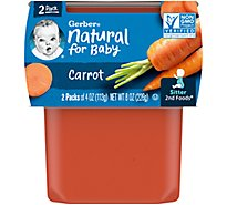 Gerber 2nd Foods Baby Food Carrots - 2-4 Oz