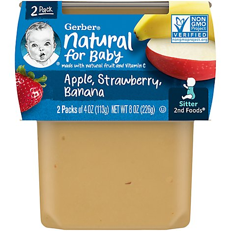 Gerber 2nd Foods Baby Food Apple Strawberry Banana - 2-4 Oz