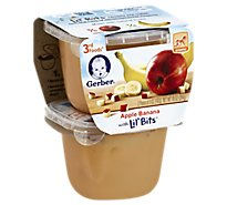 Gerber 3rd Foods Baby Food Lil Bits With Apple Banana - 2-5 Oz