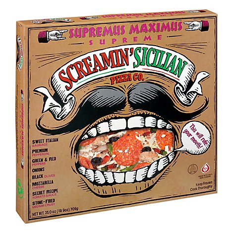 Screamin Sicilian Pizza Supremus Maximus Supreme Frozen - 25 Oz